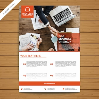 企業向けパンフレット/チラシテンプレート