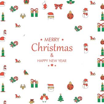 メリークリスマスと新年の幸せな背景