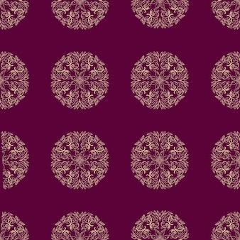曼荼羅フラワーシームレスパターン