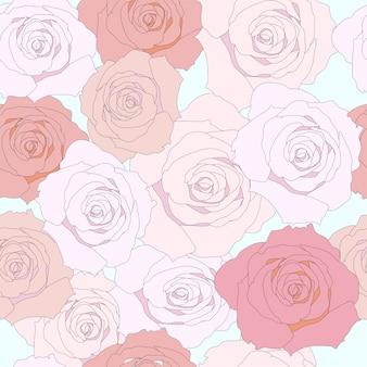 Розовая роза бесшовный фон