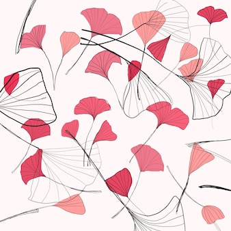 Розовый цветочный узор