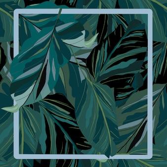 Зеленые листья бесшовные модели