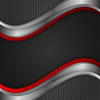 Геометрический вектор абстрактный фон красный и черный цвет