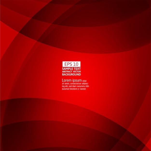 ライン波赤色の抽象的なベクトルの背景