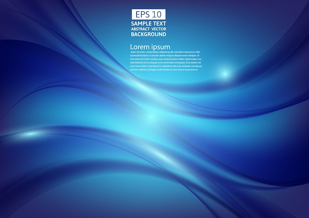 青の色の波抽象的な背景のデザイン