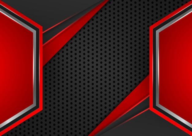 幾何学的な赤と黒の色の抽象的な背景