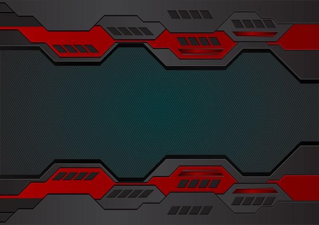 幾何学的背景ビジネスとテクノロジーのための赤と黒の色
