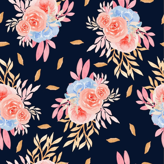 秋の花のシームレスなパターン