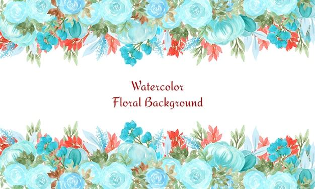 水彩画の花と抽象的な花の背景