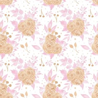 Бесшовный цветочный узор с красивыми розами