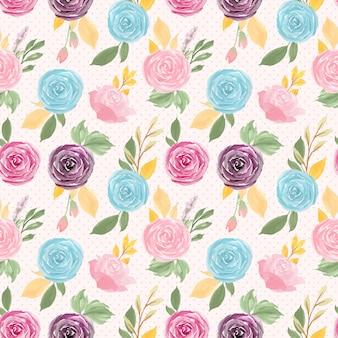 カラフルな花柄シームレス