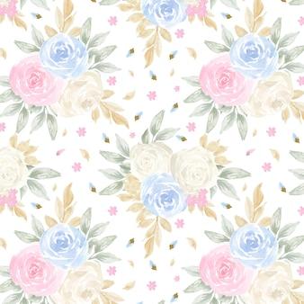 Бесшовный фон с красивыми розами пастельных цветов