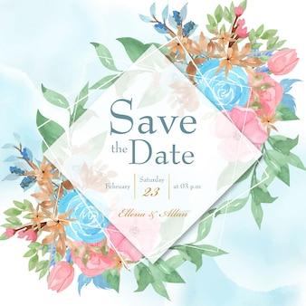 Сохранить дату карточку с рамкой цветы