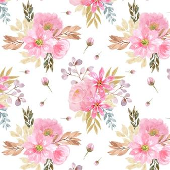 Бесшовный фон с красивыми розовыми цветами