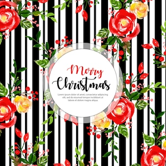 黒いストライプのクリスマスの背景