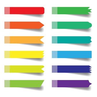 孤立した付箋の色のセット
