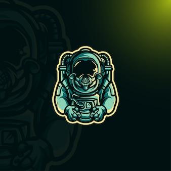 宇宙飛行士ゲームロゴ