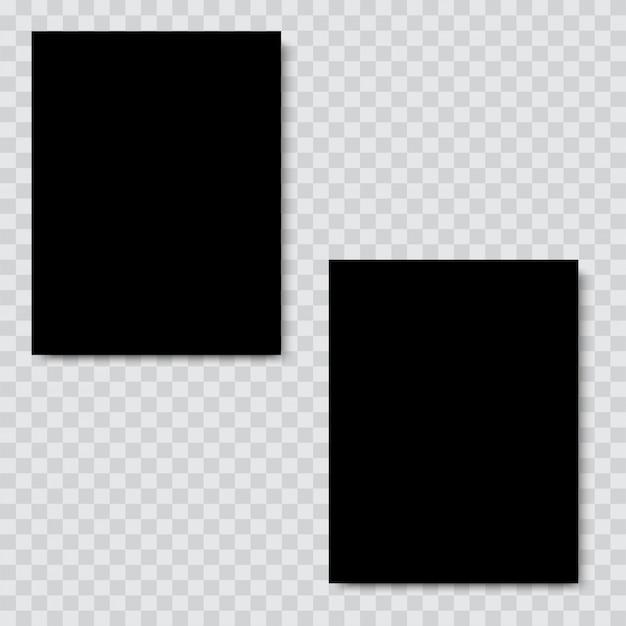 ソフトシャドウの空白の黒い紙。ベクター。