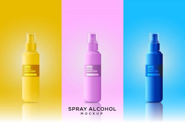Бутылки ручной дезинфекционный макет