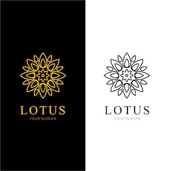 抽象的な蓮の花のロゴ