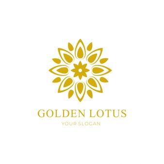 Золотой лотос цветочный дизайн