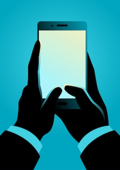 Человек рука смартфон