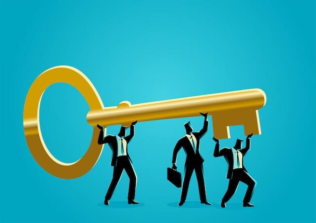 Бизнесмены с золотым ключом
