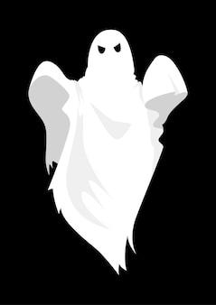 黒い背景に幽霊の漫画のイラスト