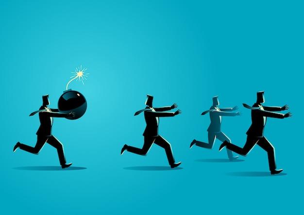 Нарушитель на работе бизнес-концепция