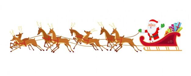 Санта-сани и олени