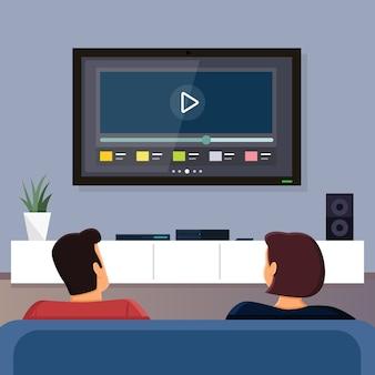 一緒にテレビを見る