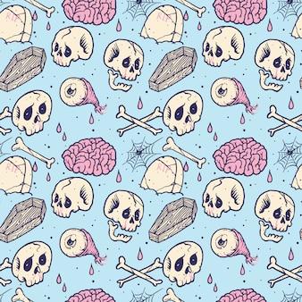 Графический череп ужас