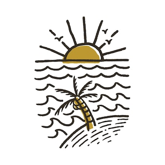 Летний пляж иллюстрация