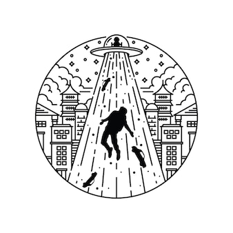 Графическая иллюстрация города вторжения пришельцев