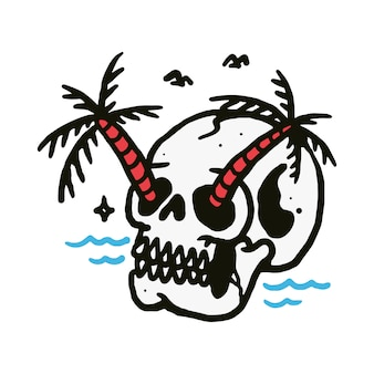 スカルビーチの図