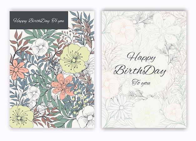 Цветочная рамка ручной работы для приглашения на день рождения