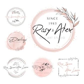 Дизайн логотипа венок из листьев
