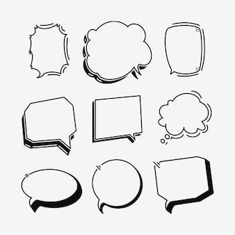手描きのスピーチの泡