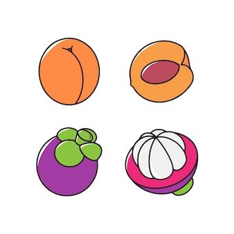 Мангостин и персик