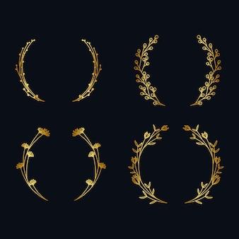 ヴィンテージメタリックゴールデンリースコレクション