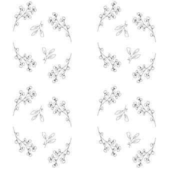 手描きの植物のパターン