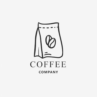 コーヒーパックのロゴのテンプレート