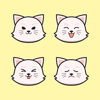 表現動物セットのかわいい猫