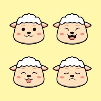 表現動物セットとかわいい羊