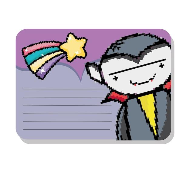 ピクセルアート紙はモックアップをノート
