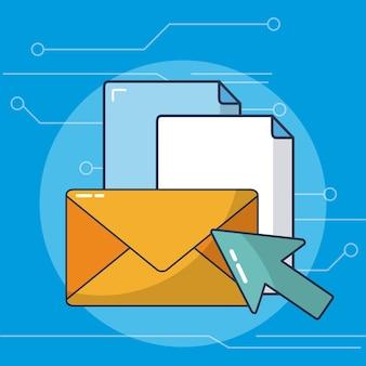 電子メールと文書のインターネット送信