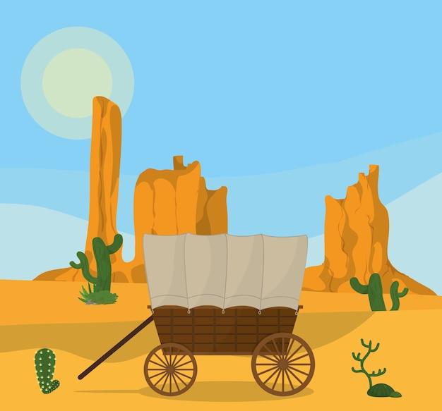砂漠での木製運送