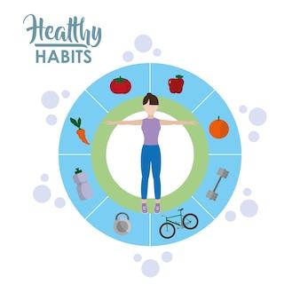 Концепция мультфильма образа жизни здорового образа жизни