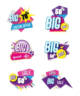 Коллекция рекламных плакатов для продажи