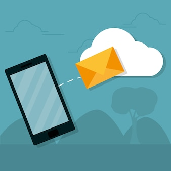 スマートフォンからメールを送信する